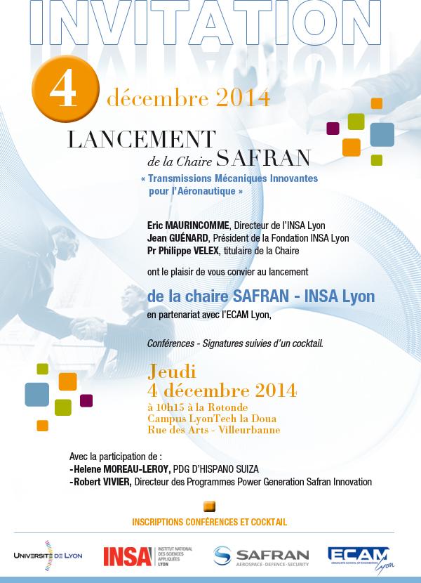 Lancement De La Chaire Safran 04 12 2014